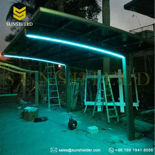 led彩灯制作方法_彩灯停车棚_带LED灯停车棚 | 赛尔特智能空间