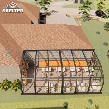 单边弧顶阳光房餐饮空间 (8)
