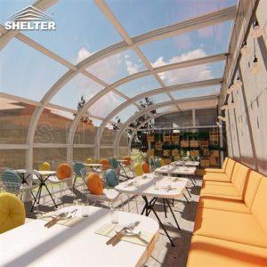 餐厅阳光房-靠墙弧形阳光房-赛尔特