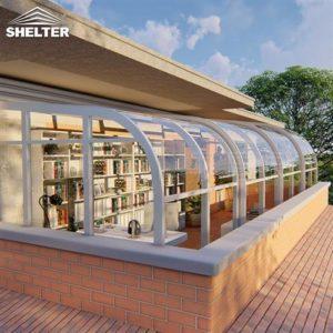 书房阳光房-二楼移动阳光房-赛尔特智能伸缩阳光房