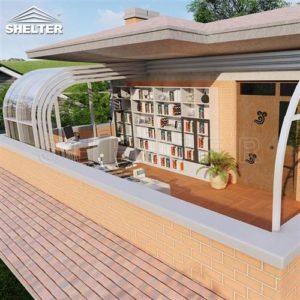 二楼书房阳光房-二楼移动阳光房-赛尔特书房伸缩阳光房