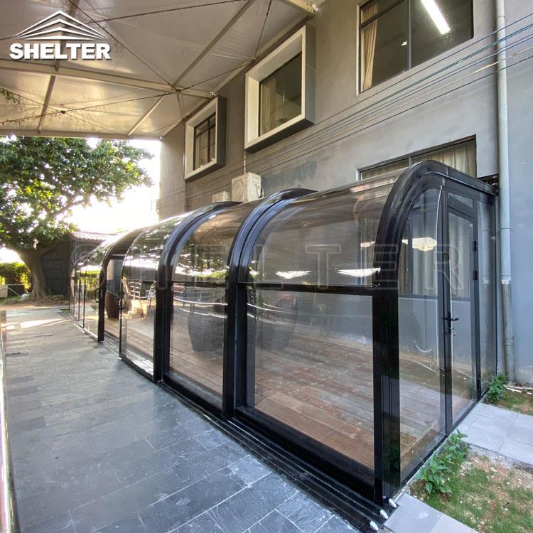 弧形靠墙阳光房—庭院阳光房—赛尔特智能阳光房