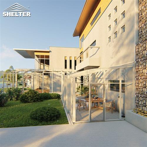 户外移动阳光房-庭院靠墙阳光房-赛尔特智能阳光房