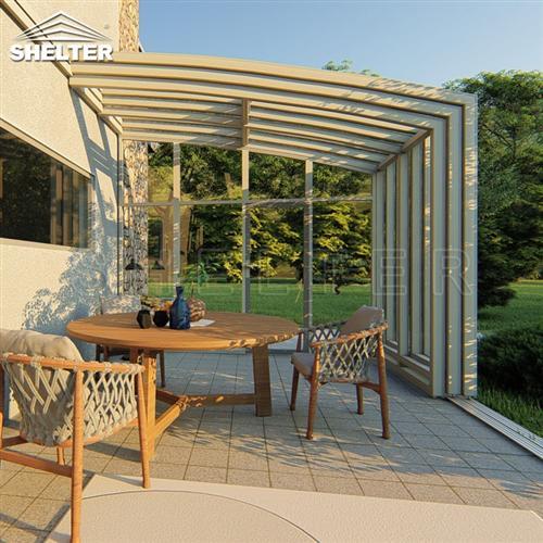 靠墙室外阳光房-移动阳光房-赛尔特伸缩阳光房