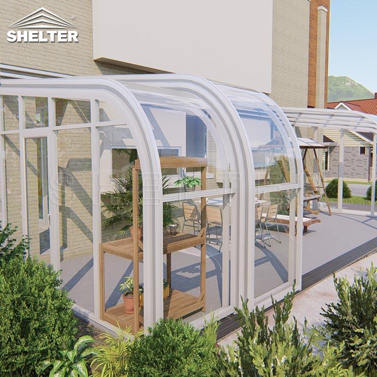 弧形靠墙阳光房-露台阳光房-赛尔特移动阳光房