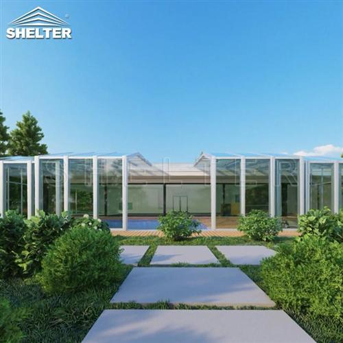 泳池伸缩阳光房-移动阳光房-赛尔特泳池阳光房